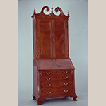 """Fig. 113: Desk and bookcase, ca.1795, Winchester, VA. Cherry with yellow pine; HOA: 103-3/4"""", WOA: 42-1/4"""", DOA: 24-1/2"""". Collection of the Colonial Williamsburg Foundation, Acc. 1930-68."""
