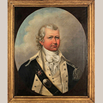 "Fig. 1: ""Brigadier General William Washington (1756–1818)"" attributed to Thomas Coram (1756–1811), ca. 1795. Oil on canvas with original gilt, gesso, and pine frame; HOA: 29-1/2"" (34"" in frame), WOA: 25"" (30"" in frame). Private collection."