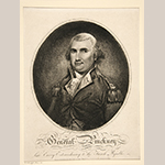 "Fig. 11: ""Charles Cotesworth Pinckney (1746–1825),"" after James Earl (1761–1796), engraved by James Akin and William Harrison Jr., published in Philadelphia, 1799. Ink on paper; HOA: 12-15/16"", WOA: 9-7/16"". Collection of Yale University Art Gallery (New Haven, CT), Mabel Brady Garvan Collection, Acc. 1946.9.825."