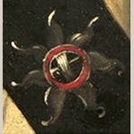 Fig. 20: Detail of the badge on the sword belt from the Thomas Coram portrait of William Washington illustrated in Fig. 1.