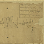 "Fig. 6: Manuscript map of the border between Virginia and North Carolina as surveyed in 1728 (by William Byrd, et al) and 1749 (by Joshua Fry and Peter Jefferson). HOA: 12-3/16"", WOA: 75-3/16"". University of Virginia Library, Special Collections, Accession #38-628 (available online: http://search.lib.virginia.edu/catalog/u2717833 [accessed 4 September 2013])."