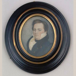 "Fig. 3: Miniature portrait of Peter Townsend (1770–1857) by George W. L. Ladd, circa 1815. Inscribed: ""Geo. W.L. Ladd / Portrait in Miniature / Painter."" Watercolor on ivory; HOA: 2-5/8"", WOA: 2-1/8"". Collection of the New-York Historical Society, Acc. 1967.15, Gift of Peter Townsend Hornor."