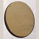 "Fig. 7: Inscription ""G.W. Ladd pinxt"" on paper backing of miniature portrait shown in Fig. 4."