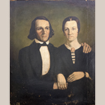 "Fig. 13: Portrait of John Christopher Columbus Feaster (1819–1899) and his wife Martha Ann Cason (1820–1907) by George W. L. Ladd, 1842–1844. Signed: ""Ladd, pinx[t]."" Oil on canvas; HOA: 38-1/2"", WOA: 32"". Collection of the Fairfield County Museum, Winnsboro, SC."